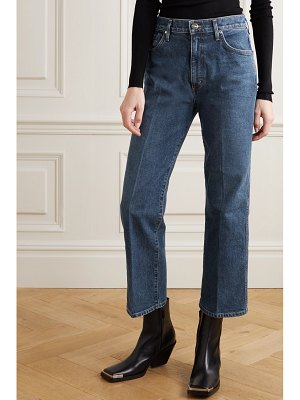 GOLDSIGN net sustain the cropped a high-rise straight-leg jeans