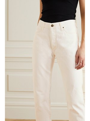 GOLDSIGN net sustain the low slung cropped mid-rise straight-leg jeans