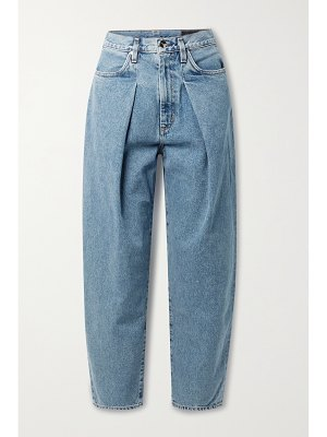 GOLDSIGN + net sustain the pleat curve high-rise tapered jeans