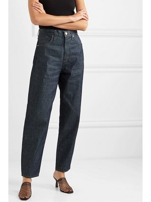 GOLDSIGN the curved cropped high-rise tapered jeans