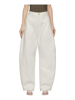 GOLDSIGN white denim the low curve trousers