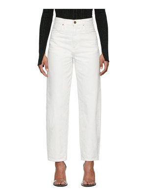 GOLDSIGN white the curved jeans