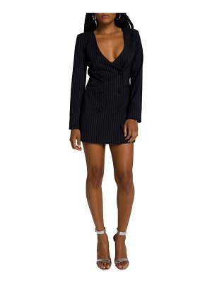 GOOD AMERICAN collarless double breasted blazer dress