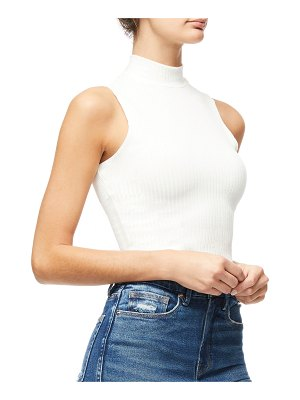 GOOD AMERICAN Cropped Sleeveless Mock-Neck Top - Inclusive Sizing
