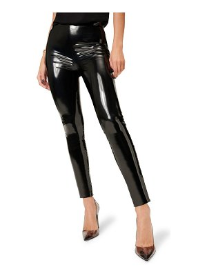 GOOD AMERICAN faux patent leather leggings