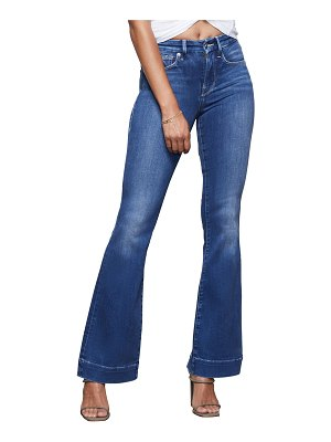 GOOD AMERICAN Good Flare Jeans with Trouser Hem - Inclusive Sizing