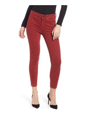 GOOD AMERICAN good legs raw edge crop skinny jeans