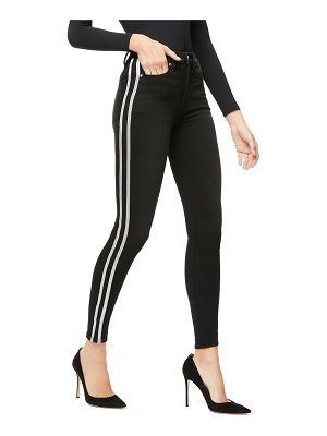 GOOD AMERICAN Good Legs Skinny Jeans w/ Athletic Stripe - Inclusive Sizing