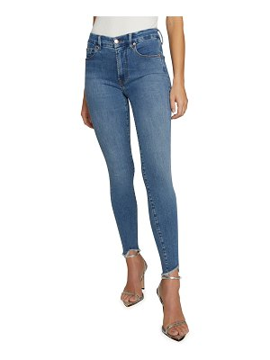 GOOD AMERICAN Good Legs Skinny Jeans with Frayed Hem - Inclusive Sizing