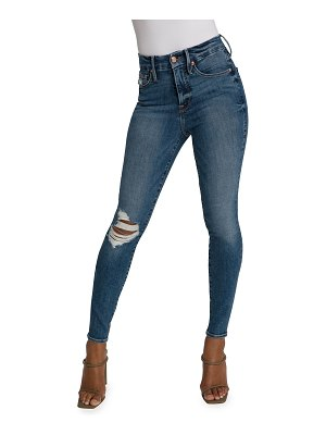 GOOD AMERICAN Good Waist Distressed Jeans - Inclusive Sizing