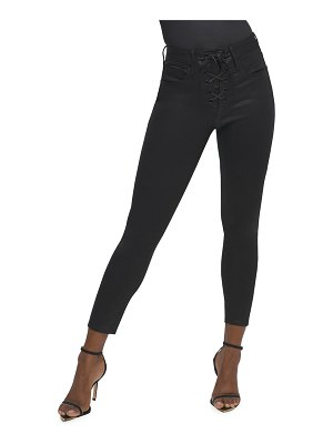 GOOD AMERICAN Good Waist Lace-Up Skinny Jeans - Inclusive Sizing
