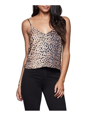 GOOD AMERICAN leopard satin camisole top