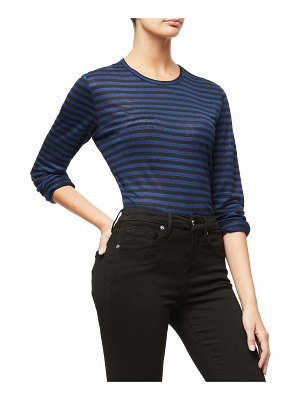 GOOD AMERICAN Long-Sleeve Striped Crew Top - Inclusive Sizing