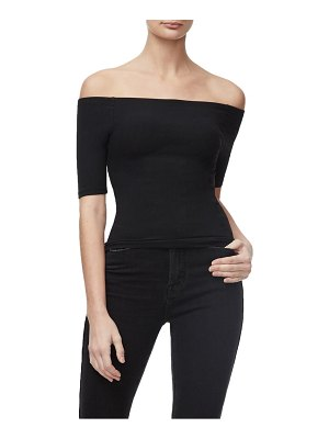 GOOD AMERICAN ribbed off the shoulder top