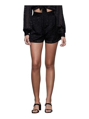 GOOD AMERICAN the midnight leopard burnout shorts
