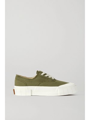 Good News + net sustain + space for giants frayed organic cotton-canvas sneakers