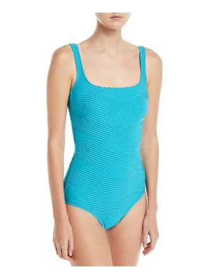 Gottex Essence Square-Neck One-Piece Textured Swimsuit