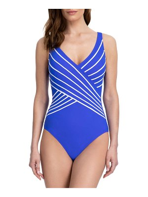 Gottex Swim embrace v-neck surplice one-piece swimsuit