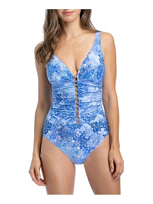 Gottex Swim taj mahal d-cup cutout one-piece swimsuit