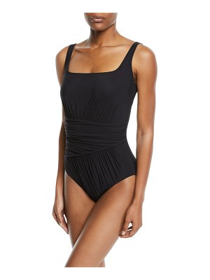 Gottex Vista Shirred Square-Neck One-Piece Swimsuit