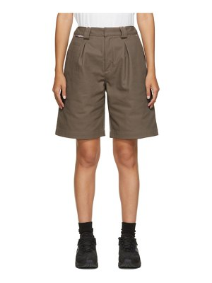 GR10K taupe klopman tailored shorts