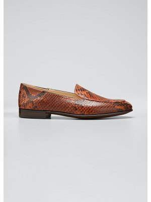 Gravati Flat Python Smoking Loafers