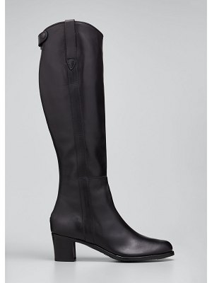 Gravati Leather Zip Knee Boots