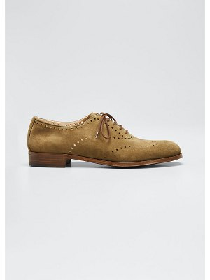 Gravati Perforated Lace-Up Oxfords