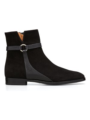 Gravati Suede Harness Ankle Booties