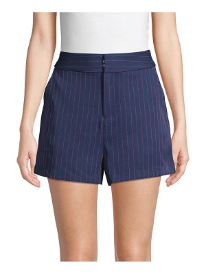 Grey Lab Pinstripe High-Waist Shorts