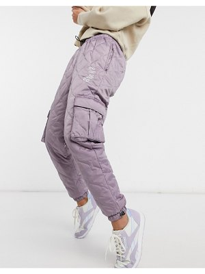 Grimey quilted sweatpants with logo set-grey
