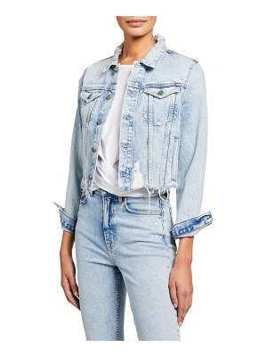 GRLFRND Cara Cropped Denim Jacket - You Wanna Go