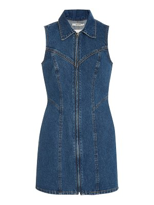 GRLFRND Denim colette denim mini dress