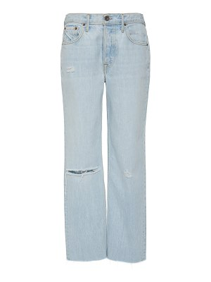 GRLFRND Denim helena cropped high-rise straight-leg jeans