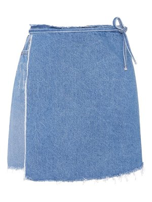 GRLFRND elle denim wrap skirt