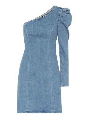GRLFRND ellie one-shoulder denim minidress