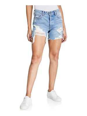 GRLFRND Jourdan Ripped Denim Cutoff Shorts