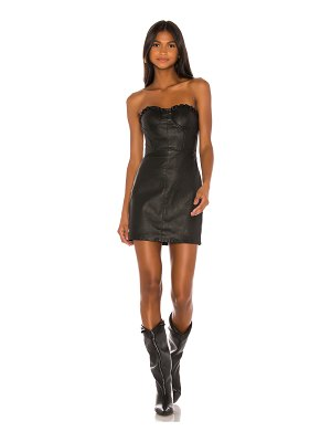 GRLFRND julietta leather mini dress