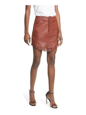 GRLFRND sadie fringe leather miniskirt