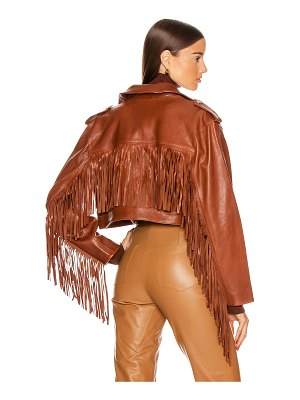 GRLFRND sadie leather fringe jacket