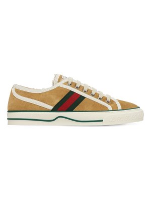 Gucci 10mm gucci tennis 1977 suede sneakers