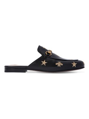 Gucci 10mm princetown embroidered leather mule