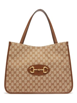 Gucci 1955 horsebit leather-trimmed tote bag