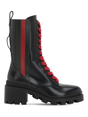 Gucci 40mm leather combat boots