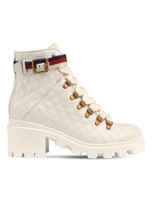 Gucci 40mm quilted leather boots
