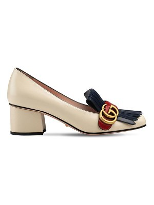Gucci 55mm marmont leather pumps
