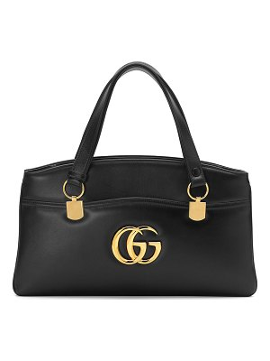 Gucci Arli Large Leather 2-Compartment Top Handle Tote Bag
