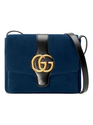 Gucci Arli Medium Suede Shoulder Bag