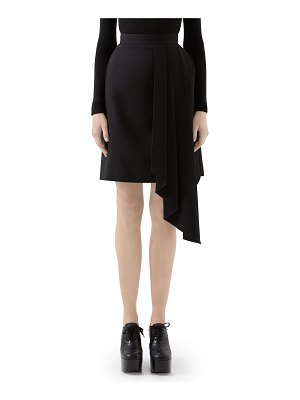 Gucci Asymmetric Draped Wool Skirt