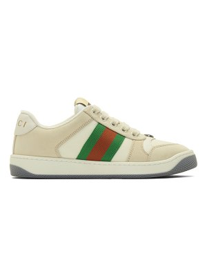 Gucci beige screener sneakers